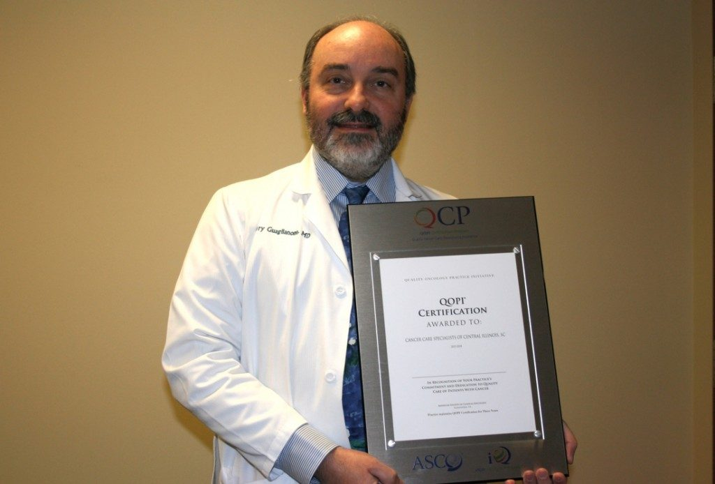 Perry P. Guaglianone, MD, FACP, QOPI Physician Liaison for Cancer Care Specialists of Illinois