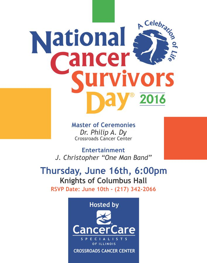 Crossroads National Cancer Survivors Day Poster 2016