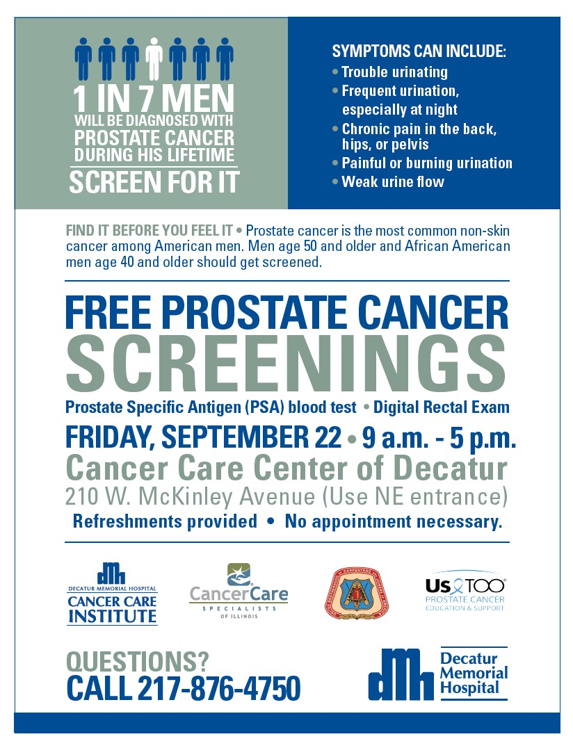 Free Prostate Cancer Screenings Cancer Care Specialists