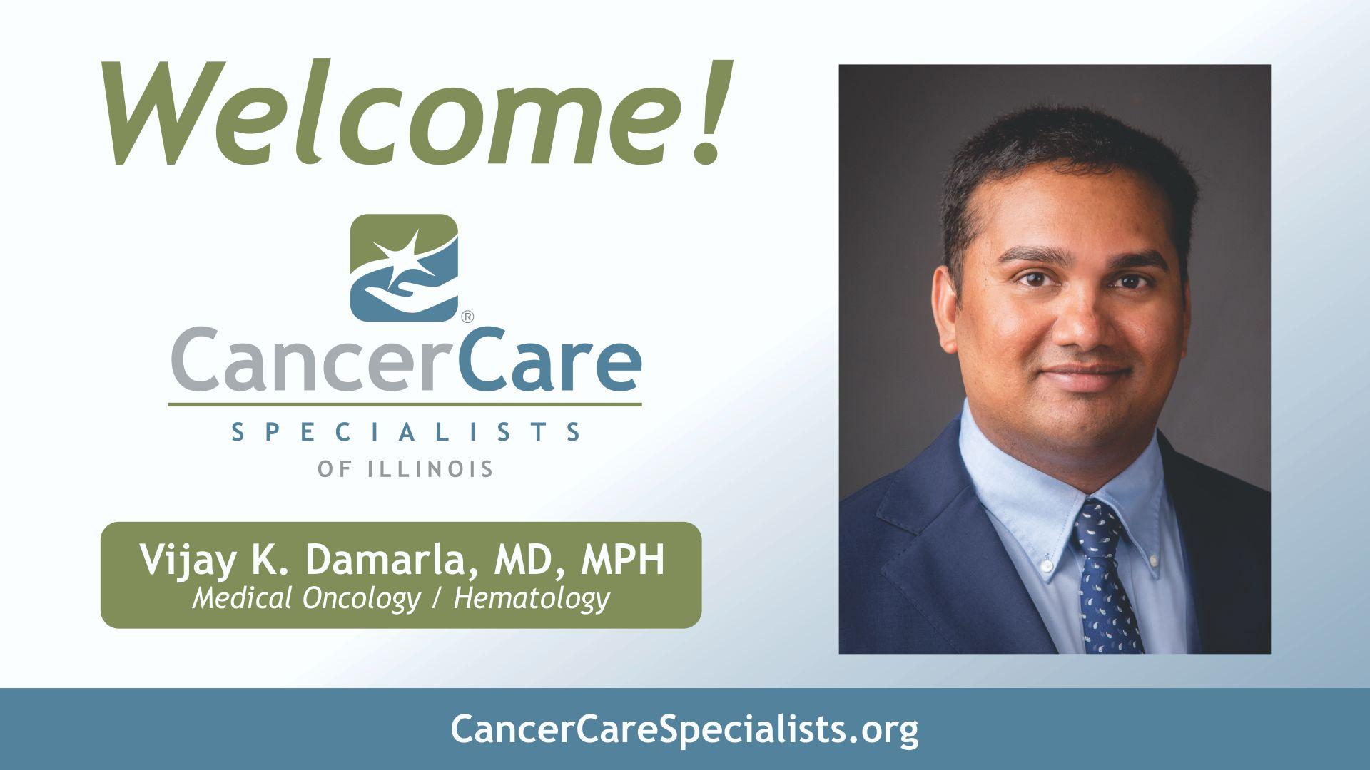 Welcome Dr. Damarla