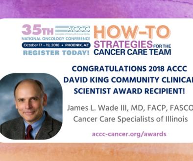 Dr. Wade ACCC Award