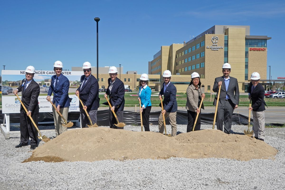 Cancer Care Specialists of Illinois and HSHS St. Elizabeth's Hospital hold ceremonial groundbreaking for a new cancer care center in O'Fallon, IL
