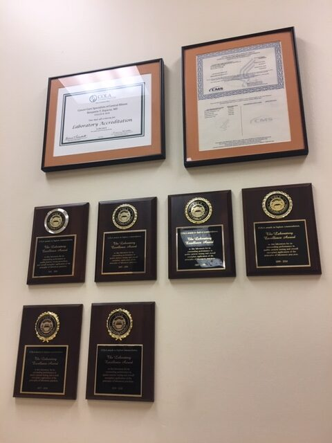 Laboratory Accreditation and Laboratory of Excellence Awards, including the newest 2019-2020 Award
