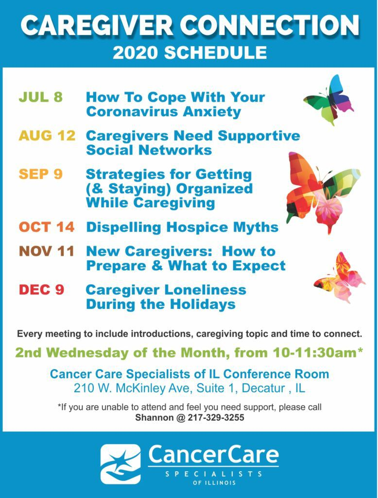 Caregiver Connection Schedule